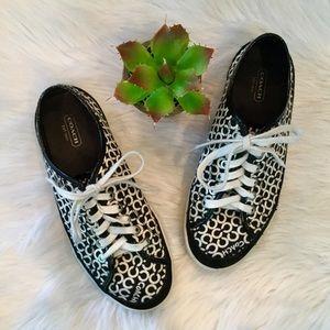 Coach Shoes - Coach Edith OP Art Logo Sneakers, 8.5